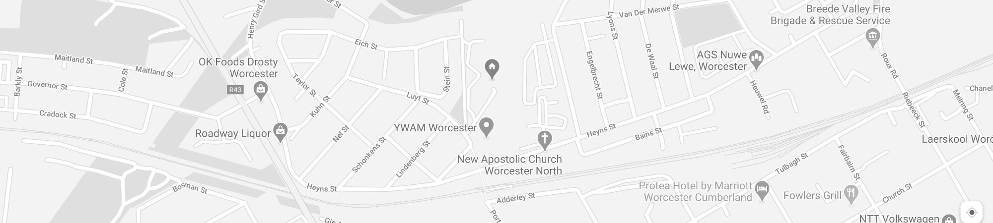YWAM Worcester Map